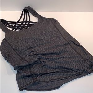 LULULEMON 2-in-1 bra/tank top gray/black size 4